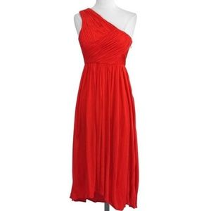 Tibi One Shoulder Red Casual Dress